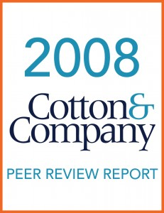 2008 Cotton & Company Peer Review Report