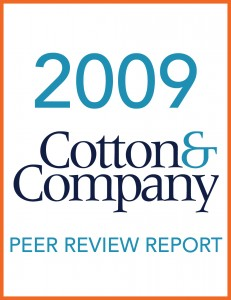2009 Cotton & Company Peer Review Report
