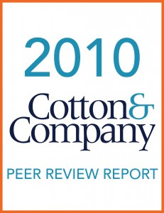 2010 Cotton & Company Peer Review Report