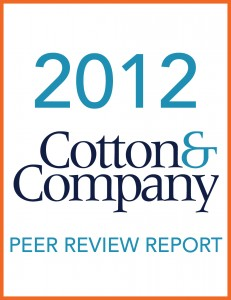 2012 Cotton & Company Peer Review Report