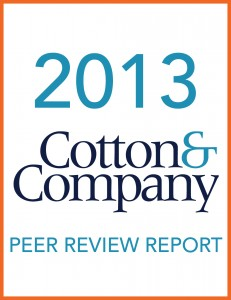 2013 Cotton & Company Peer Review Report