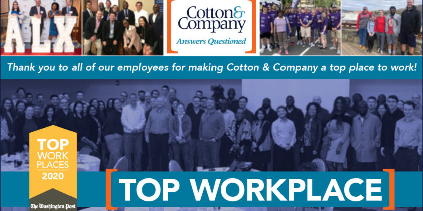 Cotton & Company is named a TOP Workplace