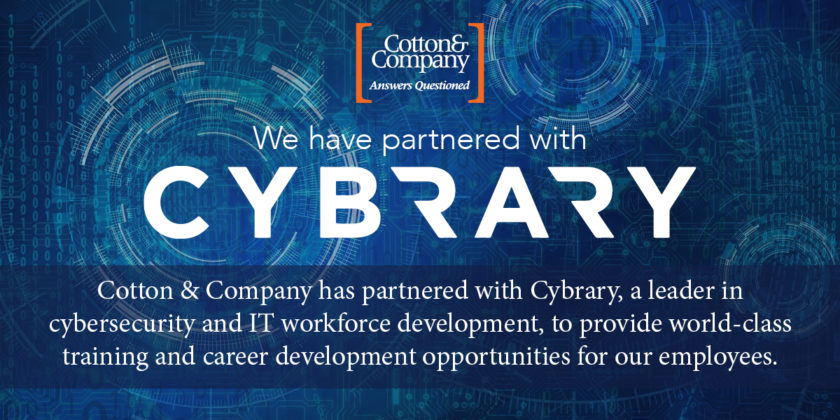 Cotton & Company has partnered with Cybrary