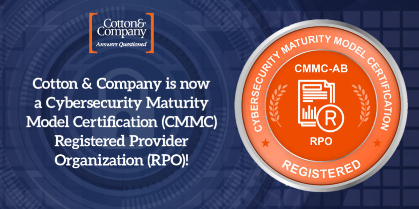 Cotton & Company Becomes a CMMC Registered Provider Organization